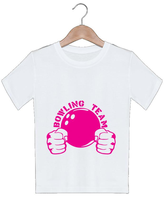 T-shirt garçon motif bowling team poing fermer logo club Achille
