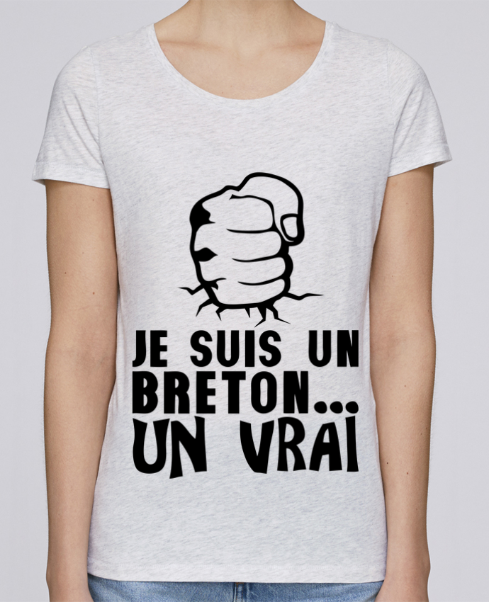 T-shirt Femme Stella Loves breton vrai veritable citation humour par Achille