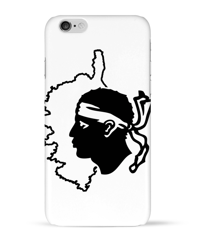Coque 3D Iphone 6 Corse Carte et drapeau par Freeyourshirt.com