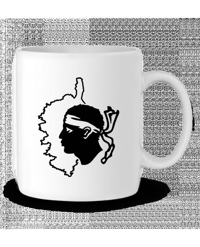 Mug en Céramique Corse Carte et drapeau par Freeyourshirt.com