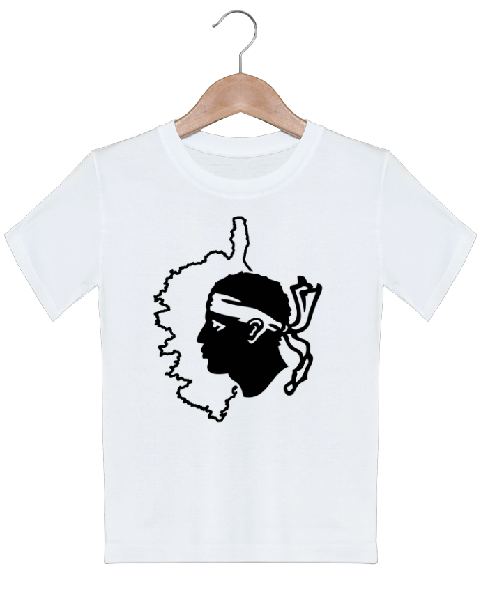 T-shirt garçon motif Corse Carte et drapeau Freeyourshirt.com