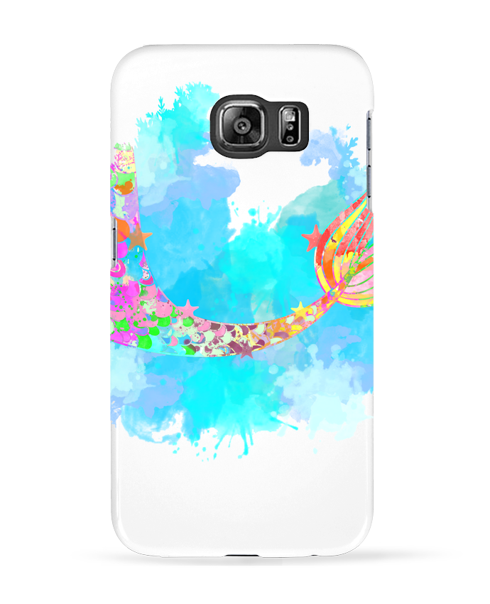 Coque 3D Samsung Galaxy S6 Watercolor Mermaid - PinkGlitter