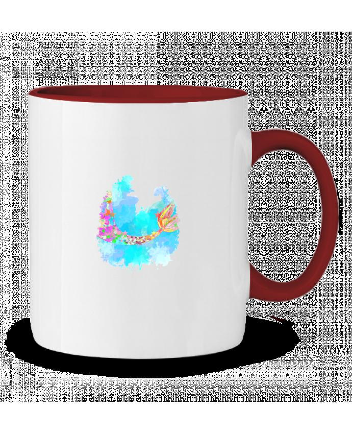 Mug en Céramique Bicolore Watercolor Mermaid PinkGlitter