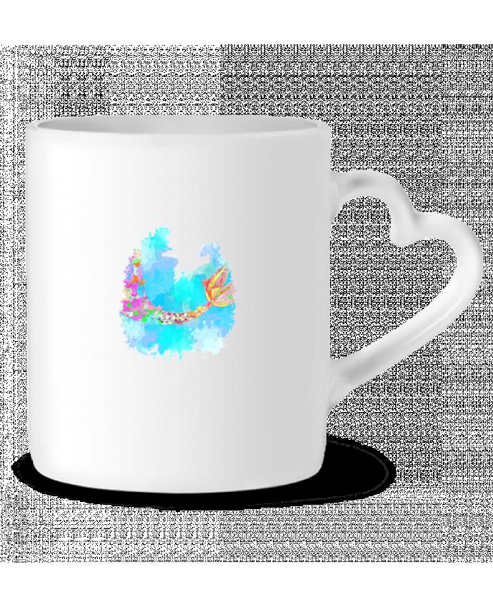 Mug Coeur Watercolor Mermaid par PinkGlitter