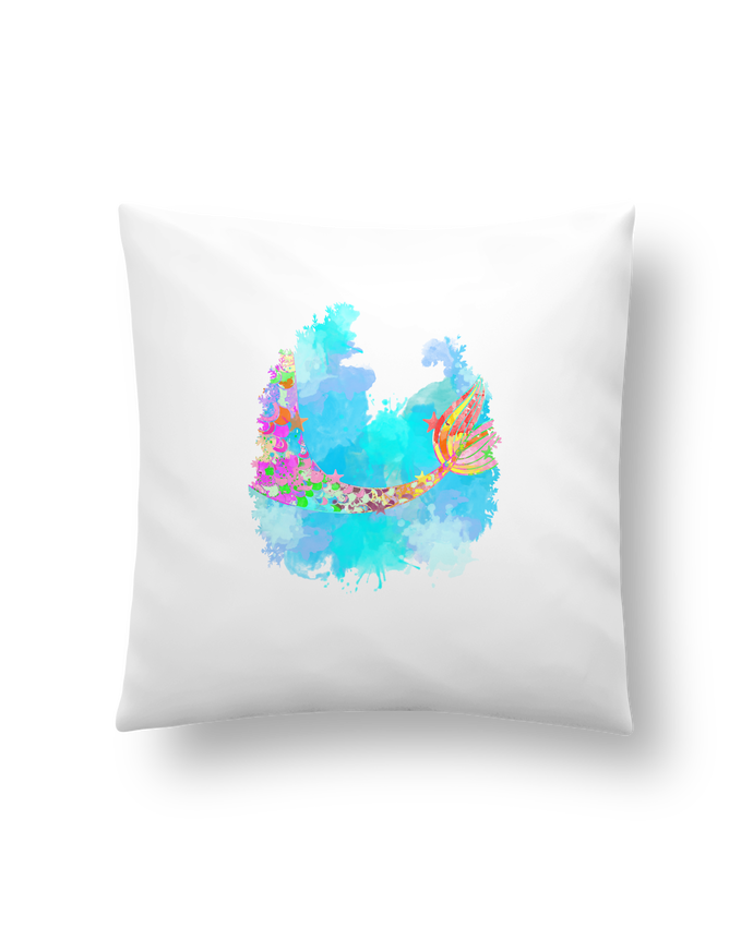 Coussin Synthétique Doux 41 x 41 cm Watercolor Mermaid par PinkGlitter