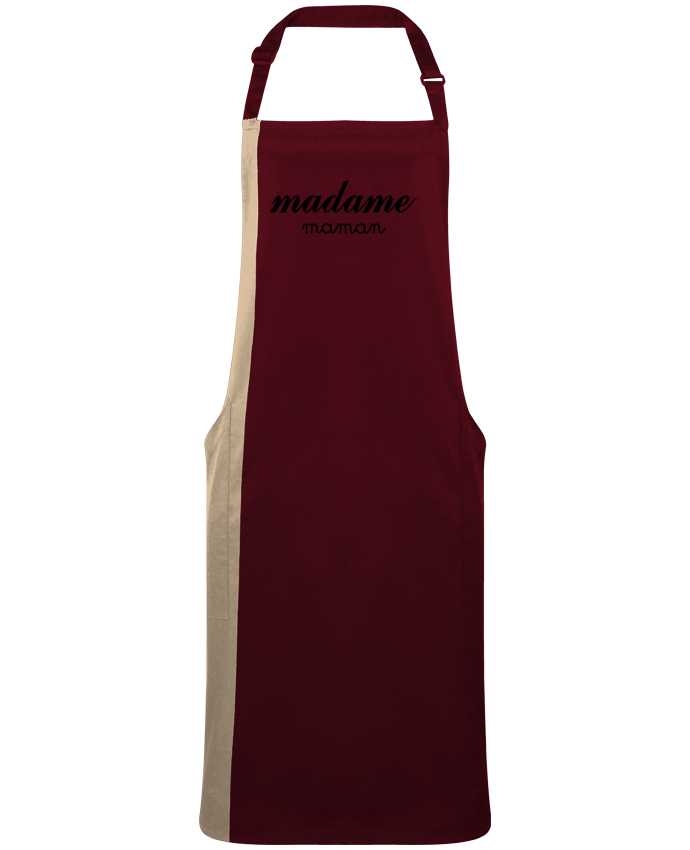 Tablier Long Bicolore Madame Maman par  Freeyourshirt.com