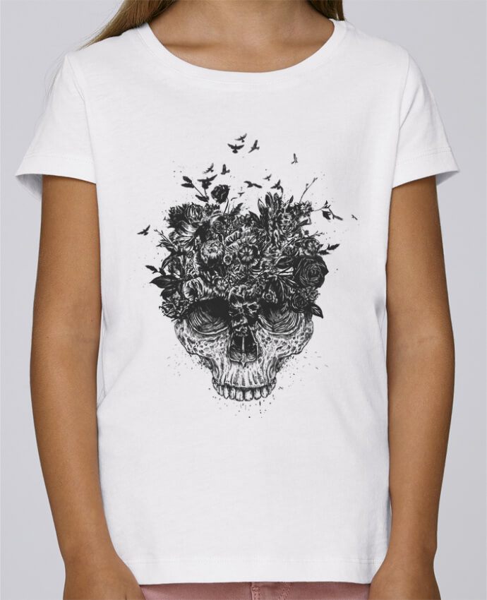 T-shirt Fille Mini Stella Draws My head is a jungle par Balàzs Solti