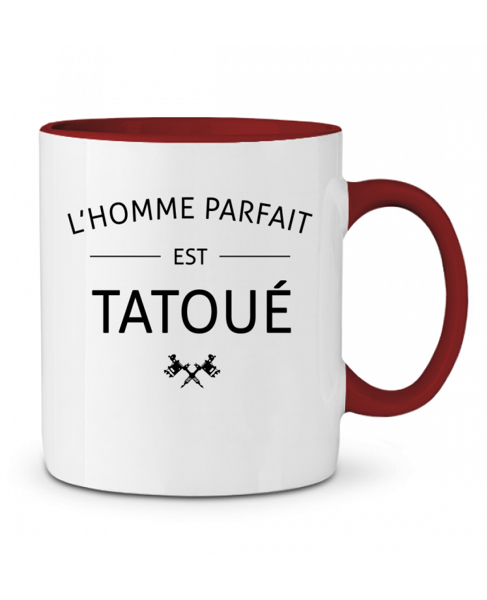 Mug en Céramique Bicolore L'homme parfait est tatoué LPMDL