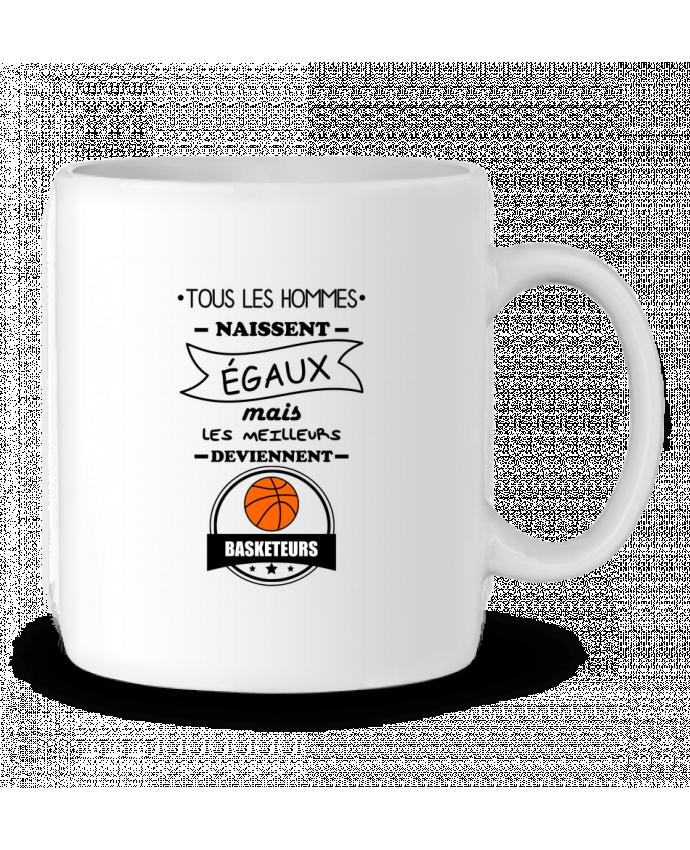 Mug en Céramique Tous les hommes naissent égaux mais les meilleurs deviennent basketteurs, basket, basketeurs pa
