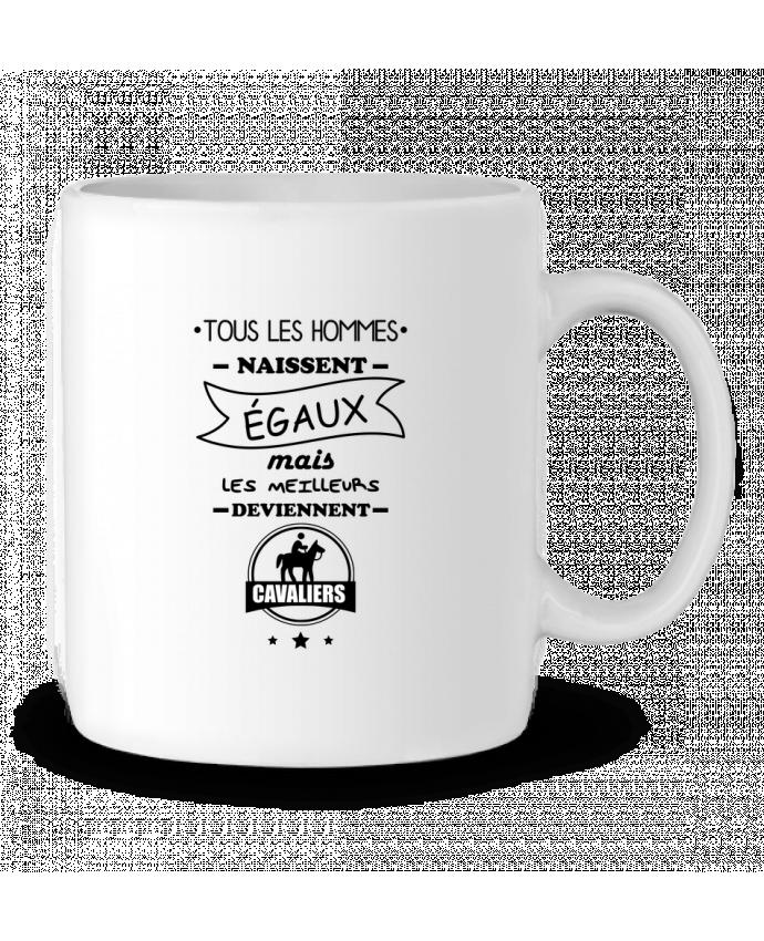 Mug en Céramique Tous les hommes naissent égaux mais les meilleurs deviennent cavaliers, cavalier, cheval, équit