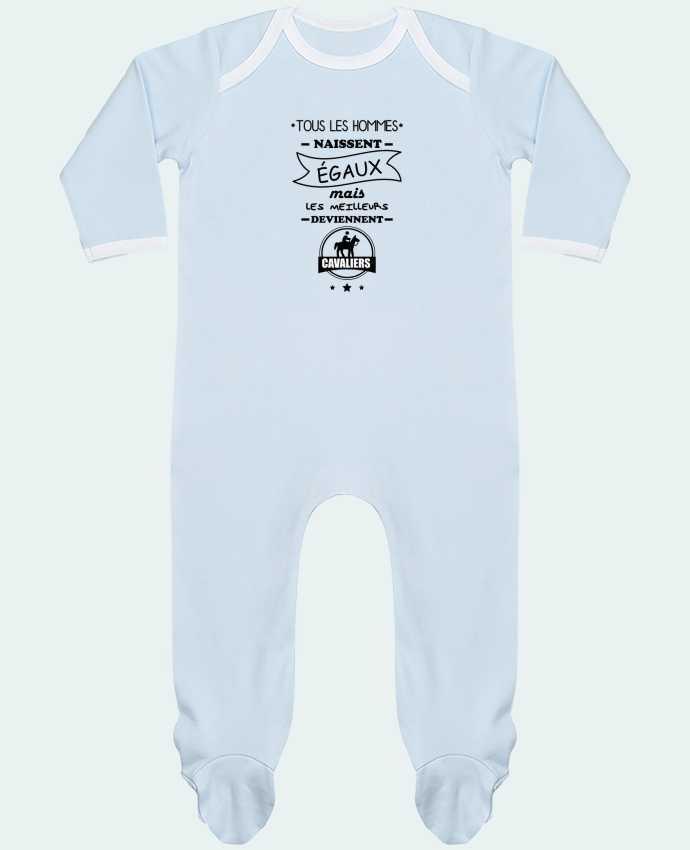 Pyjama Bébé Manches Longues Contrasté Tous les hommes naissent égaux mais les meilleurs deviennent cavaliers, cavalier, c