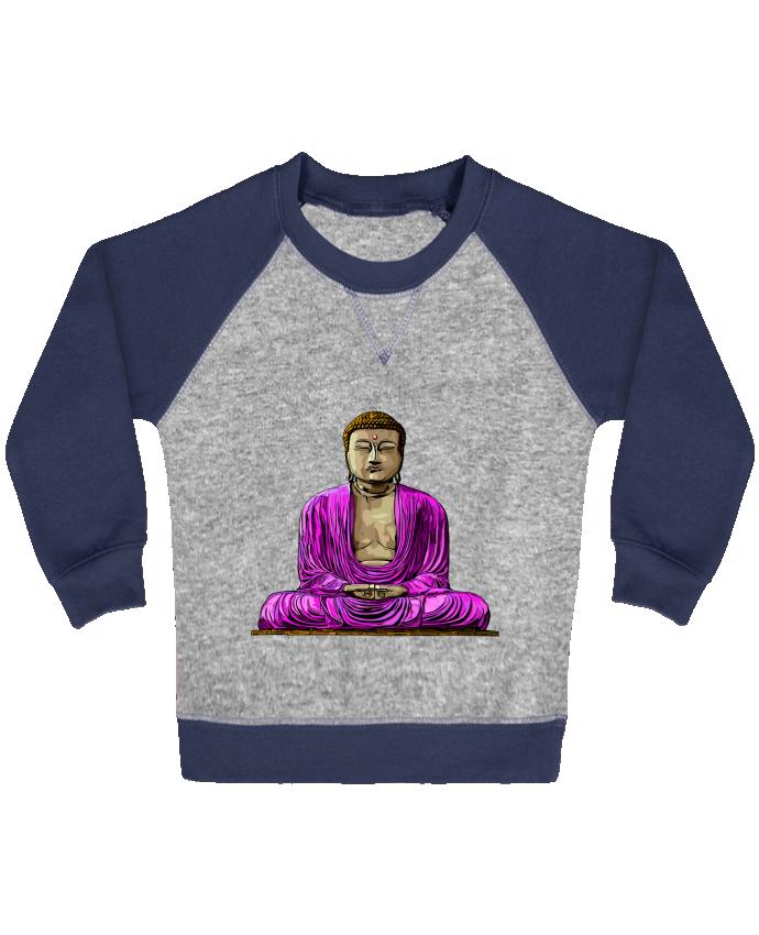 Sweat Shirt Bébé Col Rond Manches Raglan Contrastées Bouddha Pop par Numartis