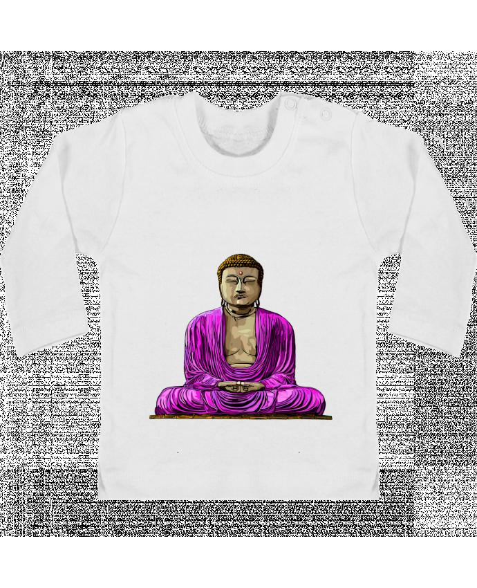 T-shirt Bébé Manches Longues Boutons Pression Bouddha Pop manches longues du designer Numartis