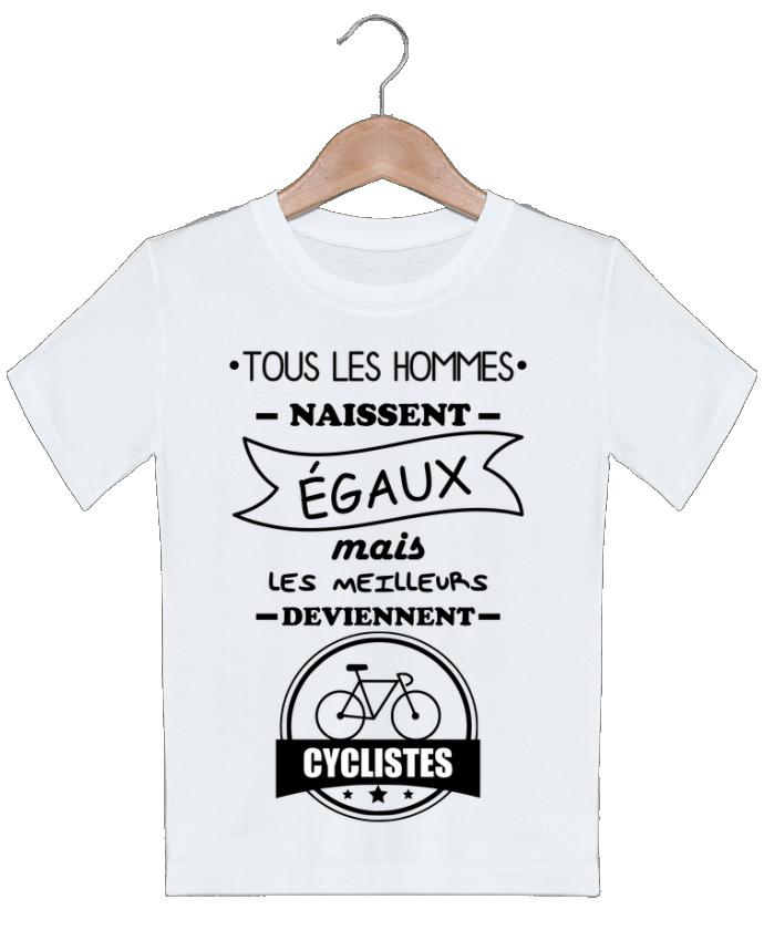 T-shirt garçon motif Tous les hommes naissent égaux mais les meilleurs deviennent cyclistes, cyclist