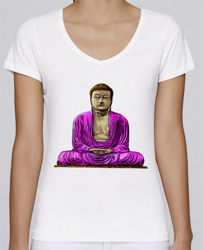 T-shirt Femme Col V Stella Chooses Bouddha Pop par Numartis