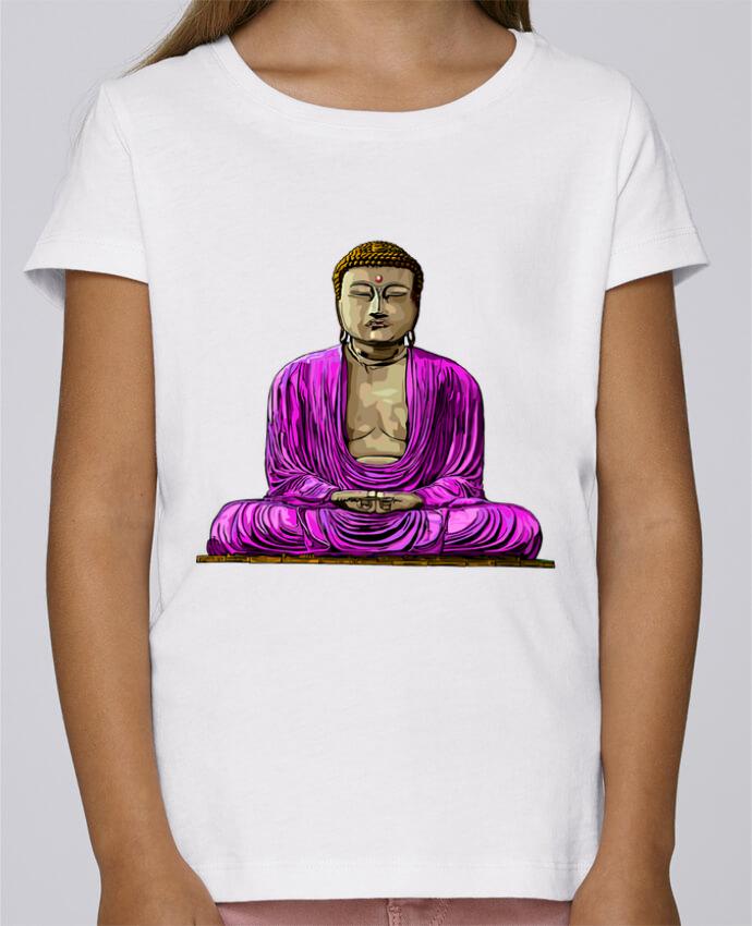 T-shirt Fille Mini Stella Draws Bouddha Pop par Numartis