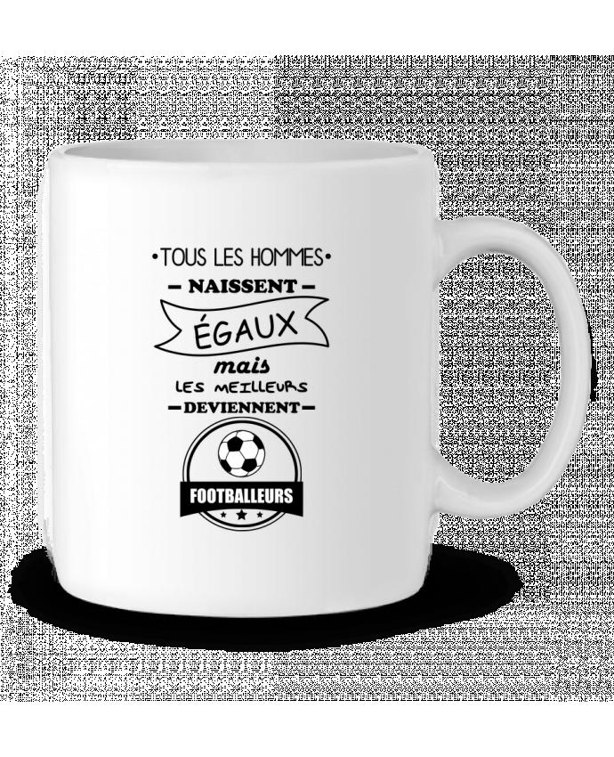 Mug en Céramique Tous les hommes naissent égaux mais les meilleurs deviennent footballeurs, footballeur, footbal