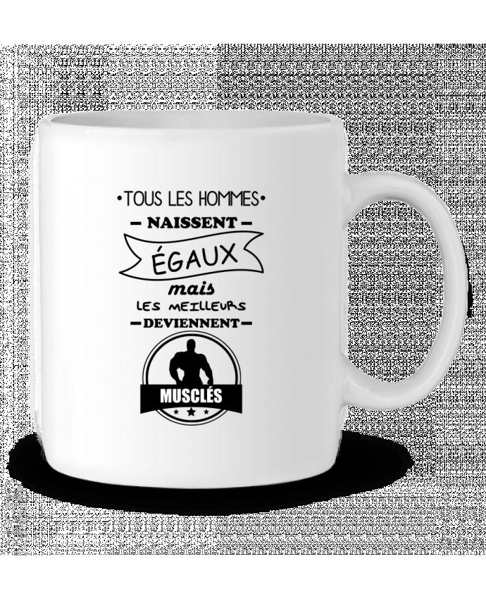 Mug en Céramique Tous les hommes naissent égaux mais les meilleurs deviennent musclés, musclé, musculation par B
