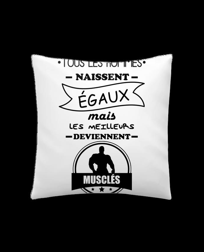 Coussin Synthétique Doux 41 x 41 cm Tous les hommes naissent égaux mais les meilleurs deviennent musclés, musclé, musculation pa