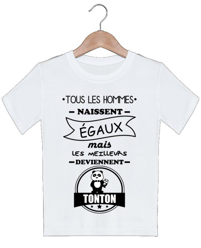 T-shirt garçon motif Tous les hommes naissent égaux mais les meilleurs deviennent tonton, tontons, o