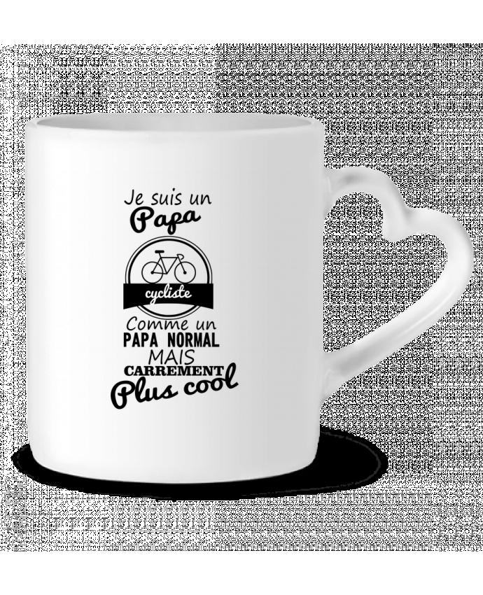 Mug Coeur Je suis un papa cycliste comme un papa normal mais carrément plus cool par Benichan