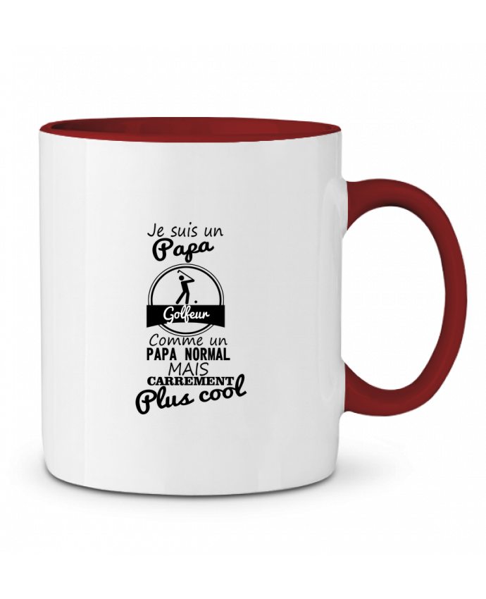 Mug en Céramique Bicolore Je suis un papa golfeur comme un papa normal mais carrément plus cool Benichan