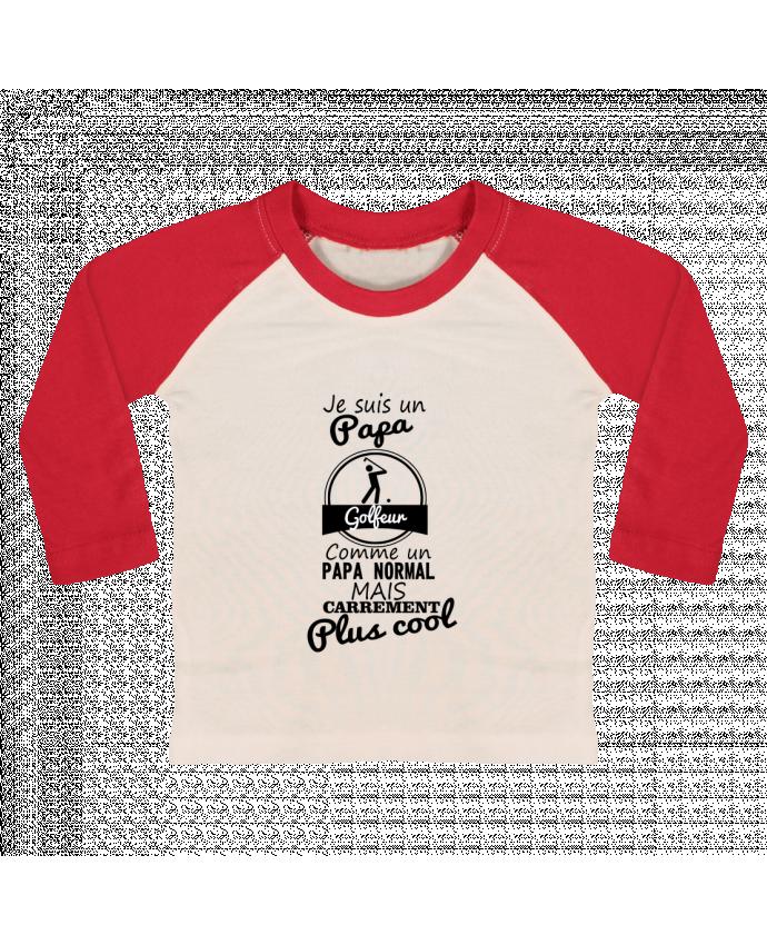 T-shirt Bébé Baseball Manches Longues Je suis un papa golfeur comme un papa normal mais carrément plus cool par