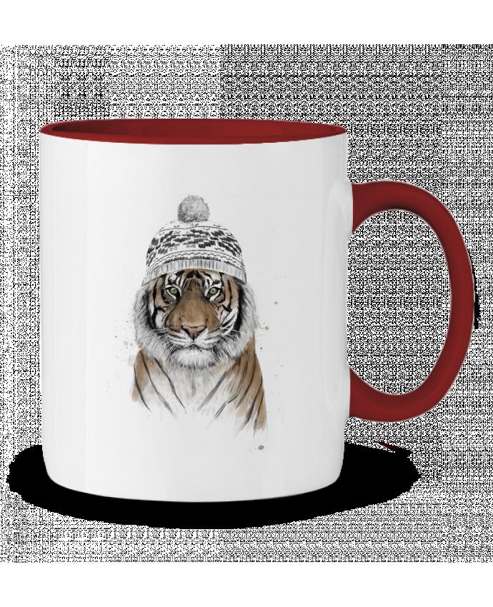 Mug en Céramique Bicolore Siberian tiger Balàzs Solti