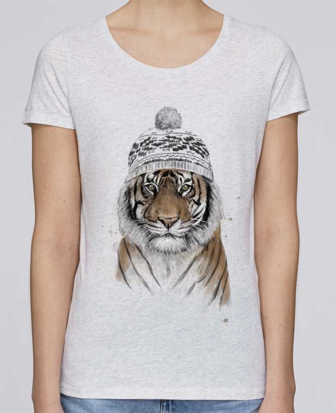 T-shirt Femme Stella Loves Siberian tiger par Balàzs Solti