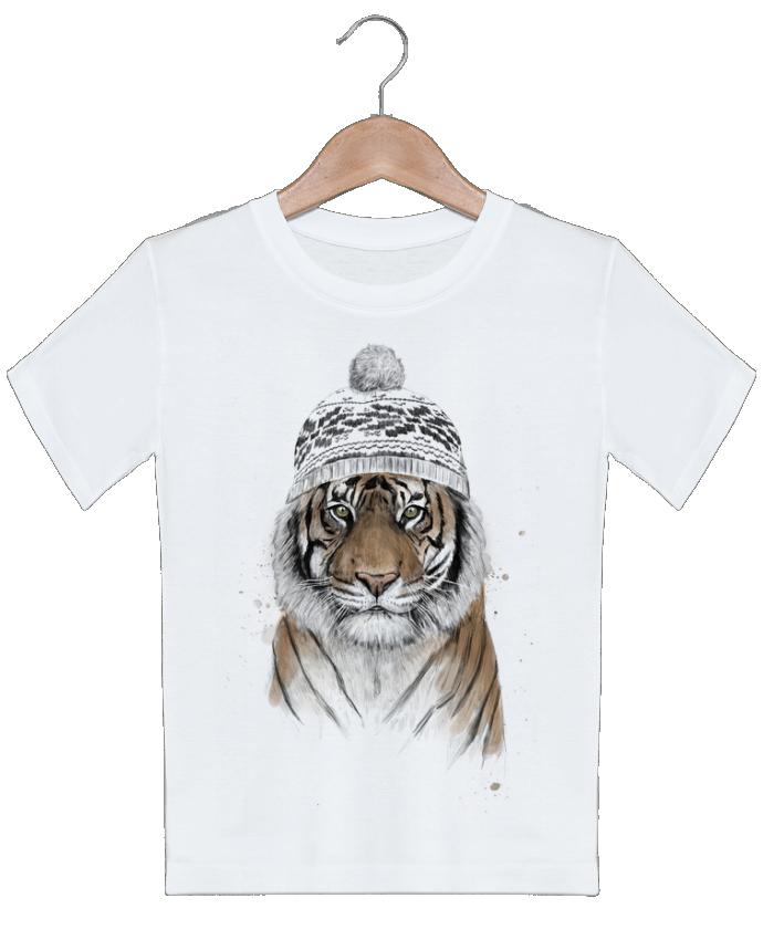 T-shirt garçon motif Siberian tiger Balàzs Solti
