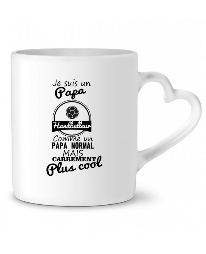 Mug Coeur Je suis un papa handballeur comme un papa normal mais carrément plus cool par Benichan