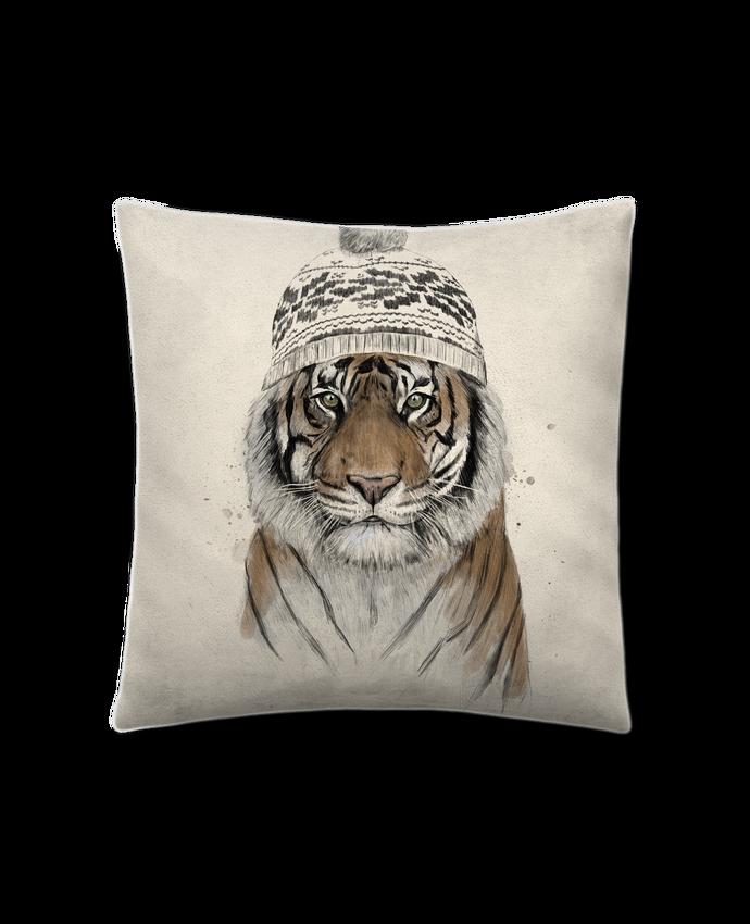Coussin Toucher Peau de Pêche 41 x 41 cm Siberian tiger par Balàzs Solti