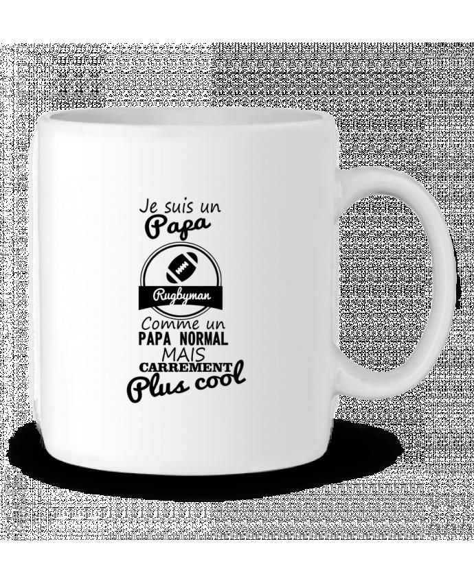 Mug en Céramique Je suis un papa rugbyman comme un papa normal mais carrément plus cool par Benichan