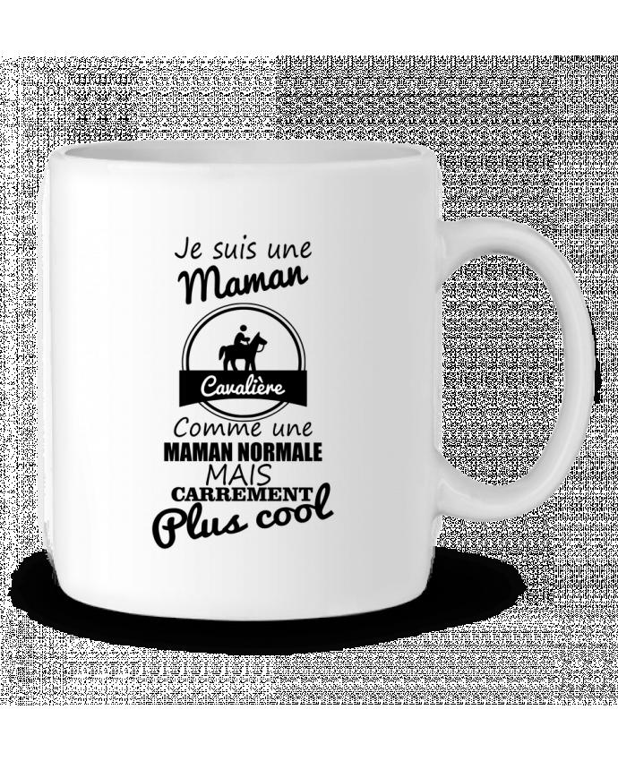 Mug en Céramique Je suis une maman cavalière comme une maman normale mais carrément plus cool par Benichan