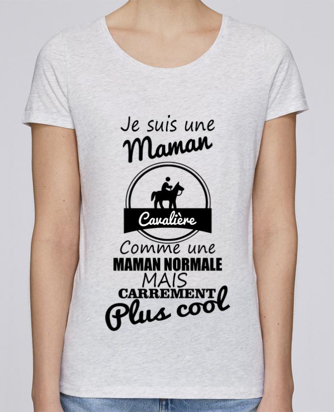 T-shirt Femme Stella Loves Je suis une maman cavalière comme une maman normale mais carrément plus cool par Benic