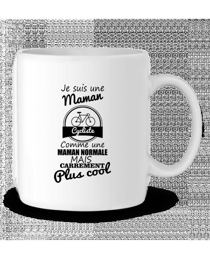Mug en Céramique Je suis une maman cycliste comme une maman normale mais carrément plus cool par Benichan
