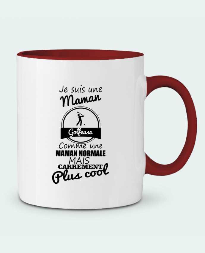 Mug en Céramique Bicolore Je suis une maman golfeuse comme une maman normale mais carrément plus cool Benichan