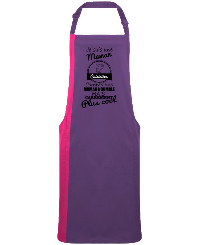 Tablier Long Bicolore Je suis une maman cuisinière comme une maman normale mais carrément plus cool par