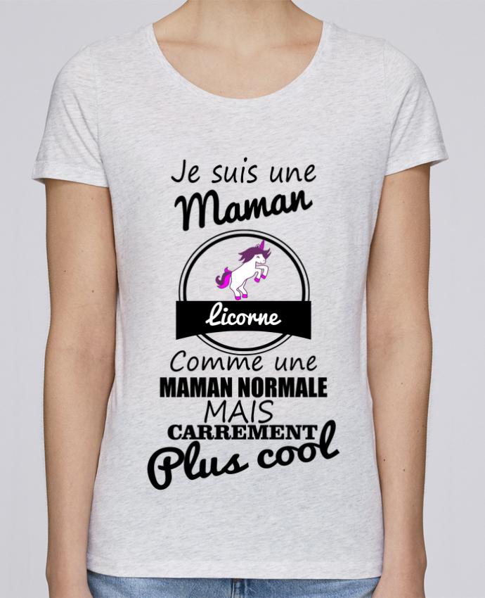 T-shirt Femme Stella Loves Je suis une maman licorne comme une maman normale mais carrément plus cool par Benicha
