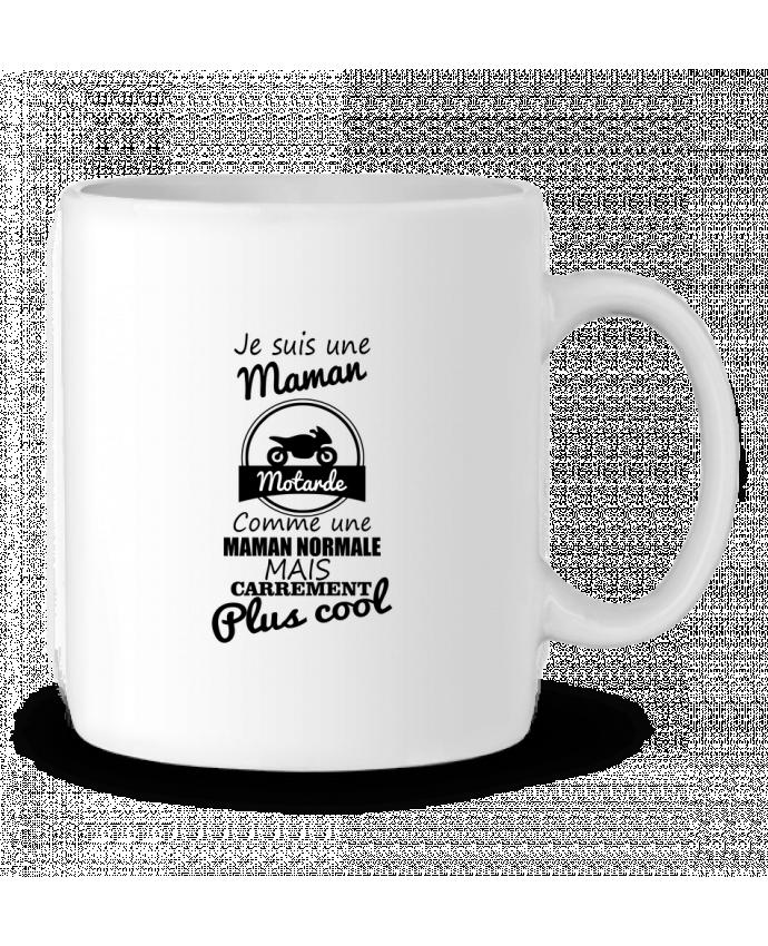 Mug en Céramique Je suis une maman motarde comme une maman normale mais carrément plus cool par Benichan