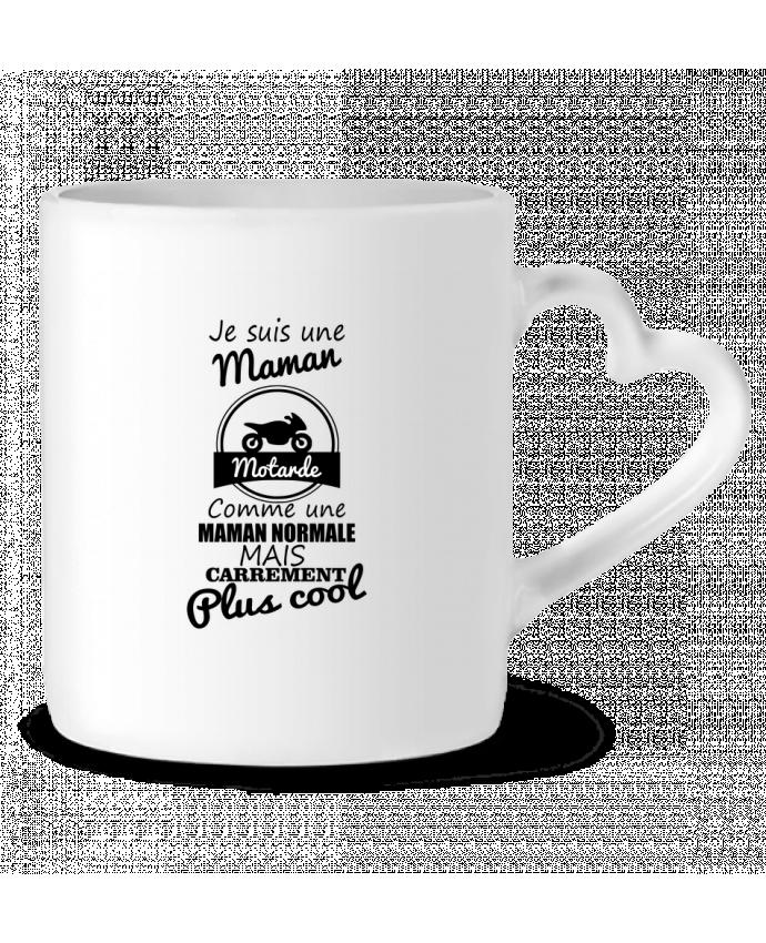 Mug Coeur Je suis une maman motarde comme une maman normale mais carrément plus cool par Benichan