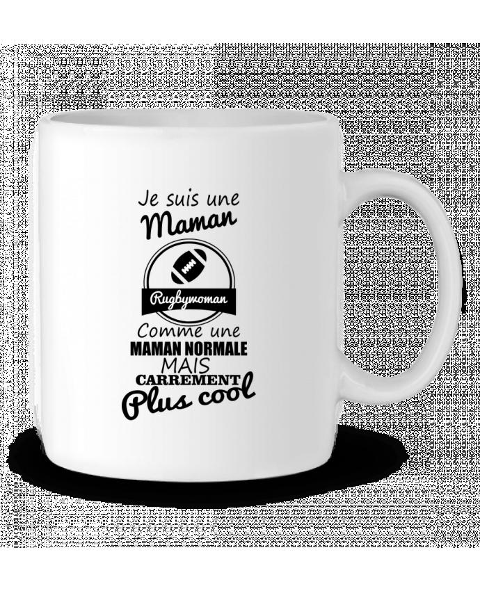 Mug en Céramique Je suis une maman rugbywoman comme une maman normale mais carrément plus cool par Benichan