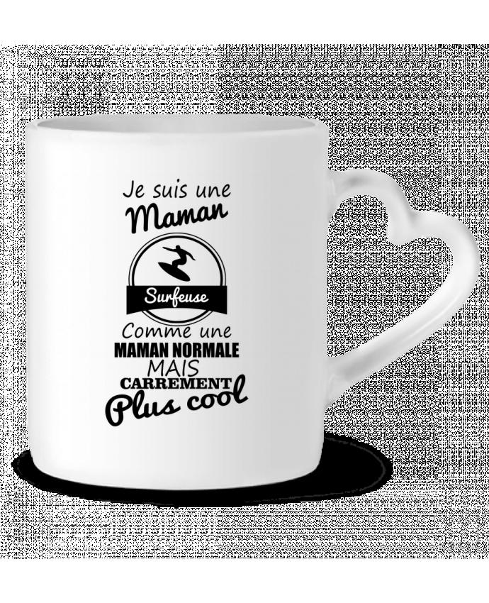 Mug Coeur Je suis une maman surfeuse comme une maman normale mais carrément plus cool par Benichan