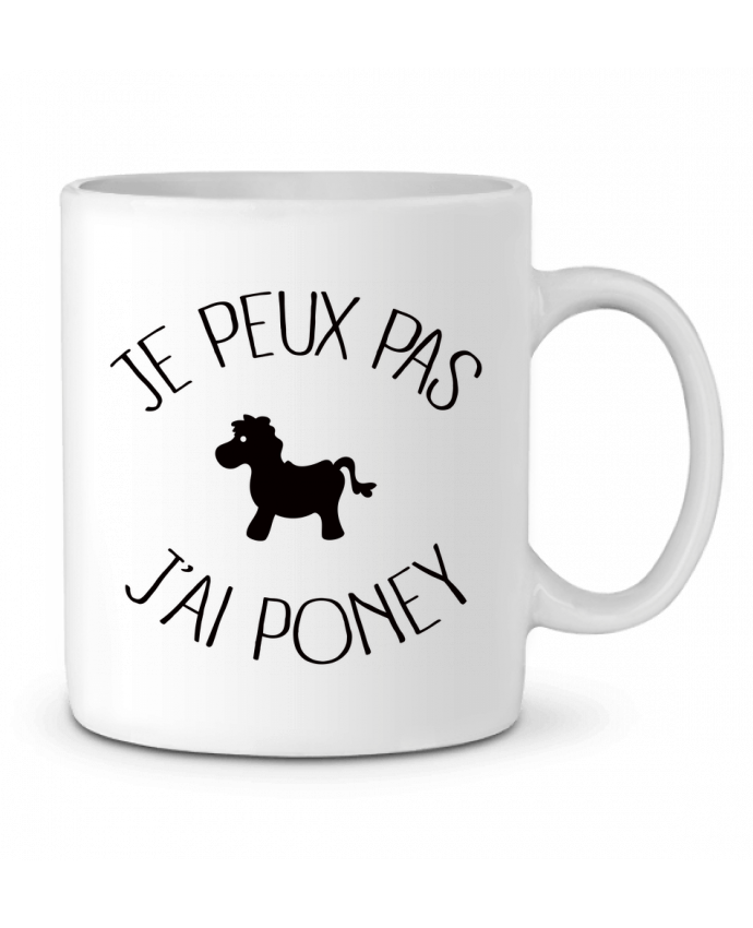 Mug en Céramique Je peux pas j'ai poney par Freeyourshirt.com