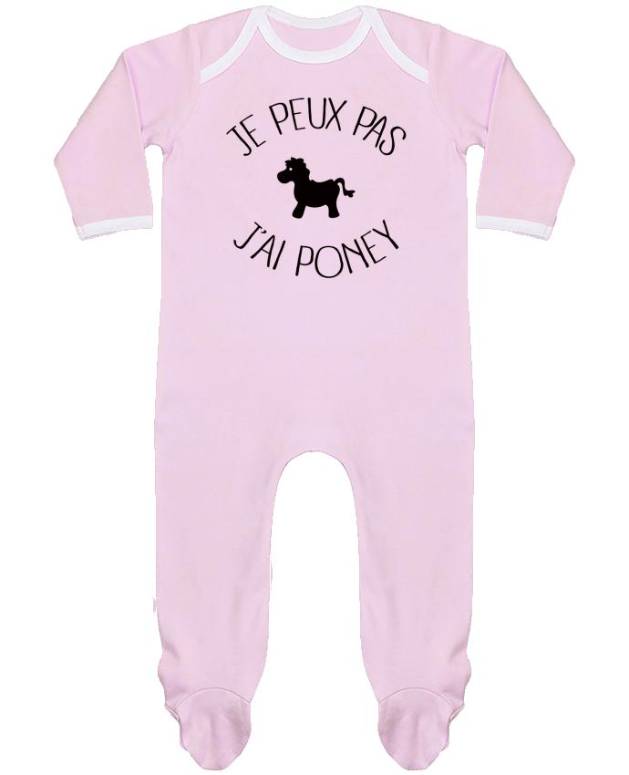 Pyjama Bébé Manches Longues Contrasté Je peux pas j'ai poney par Freeyourshirt.com