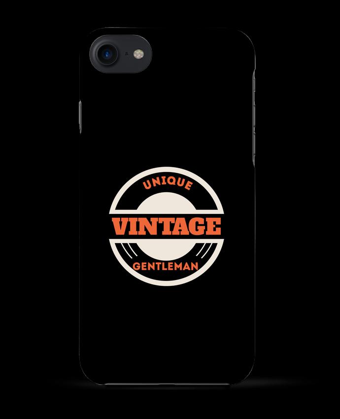 1785767 coque 3d iphone 7 blanc unique vintage gentleman by les caprices de filles