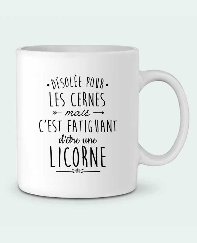 Mug en Céramique Fatiguant d'être une licorne par LPMDL