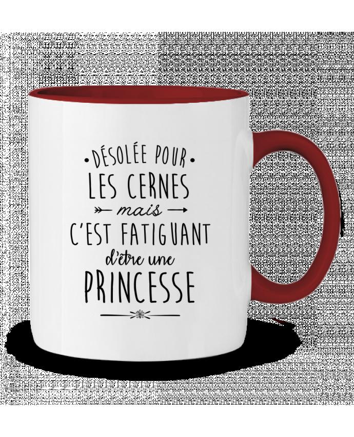 Mug en Céramique Bicolore C'est fatiguant d'être une princesse LPMDL