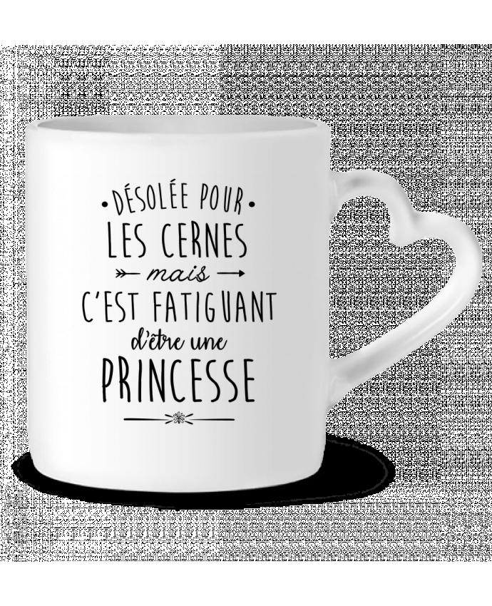 Mug Coeur C'est fatiguant d'être une princesse par LPMDL