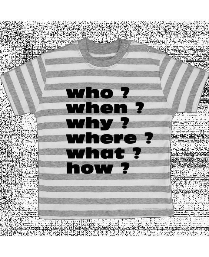 T-shirt Bébé à Rayures Questions par Les Caprices de Filles